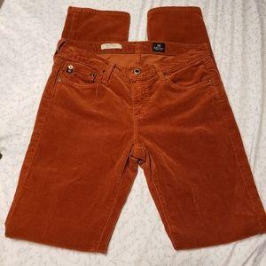 Ag | The Stevie Slim Straight textured jeans
